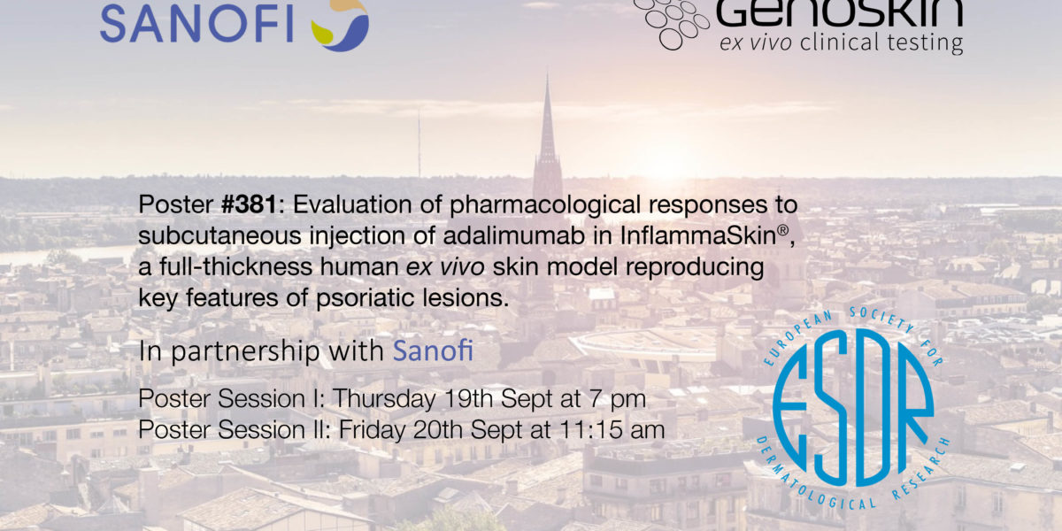 Illustration for Genoskin and Sanofi present Hypo-InflammaSkin® at ESDR2019