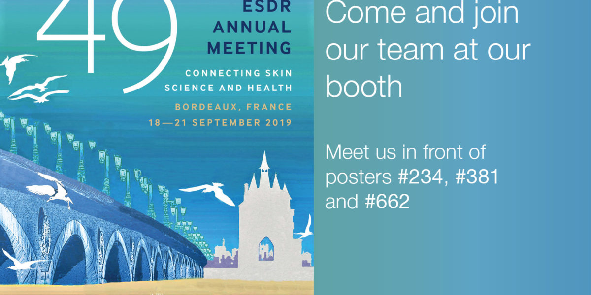 Illustration for ESDR 2019 showing ESDR 2019 poster and stating Come and join our team at our booth