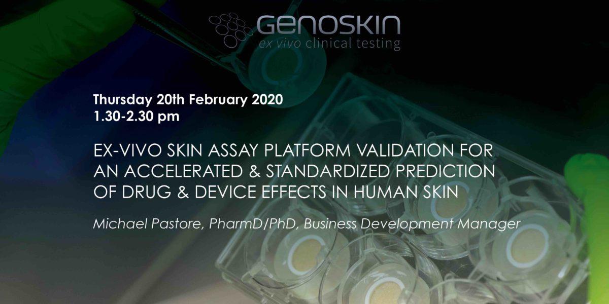 UK seminar: skin assay photo and title of the seminar
