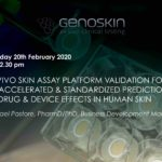 UK seminar: skin assay photo and title of the seminar