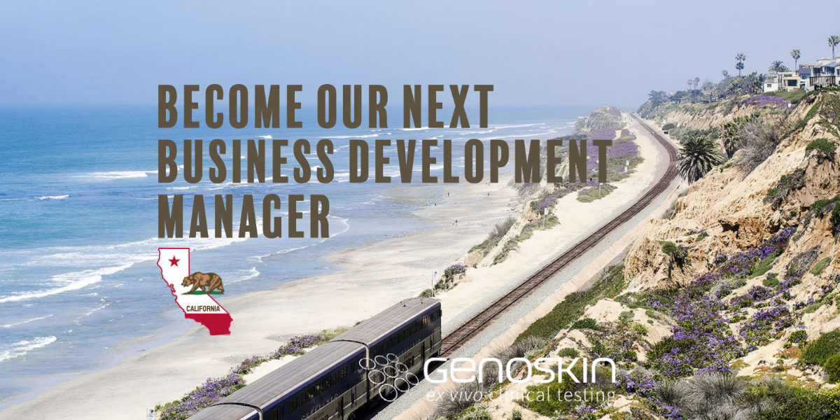 Become our next business development manager in California. Photo of a train along a beach in san diego